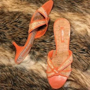 Jones New York Crisscross Cork Sandals